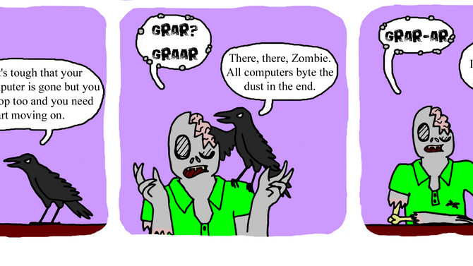 The three stages of Zombie grief