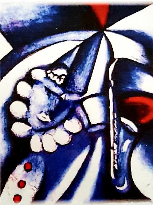 Faksimile Clown (blau)