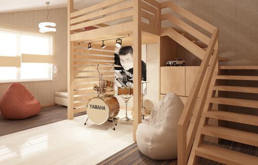 дом 84м², 3 этажа