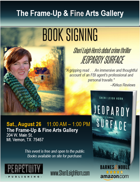 Book signing in Mt. Vernon, Texas