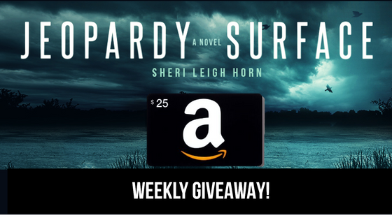 Countdown to JEOPARDY SURFACE  Paperback Release, Giveaway #1