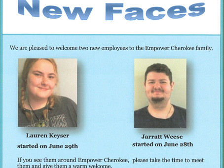 NEW SMILING FACES AT EMPOWER CHEROKEE