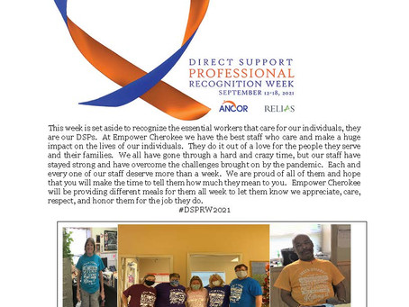 CELEBRATING DIRECT SUPPORT PROFESSIONAL WEEK!