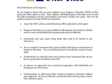 UPDATED EMPOWER CHEROKEE COVID 19 PLAN