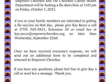 EMPOWER CHEROKEE HOSTING FLU SHOT CLINIC