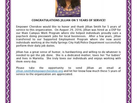 HAPPY 5TH ANNIVERSARY JILLIAN!