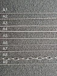 Kettenarten Silber gekennzeichnet 2019-1