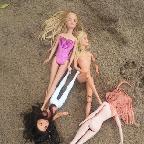 More beach Barbies