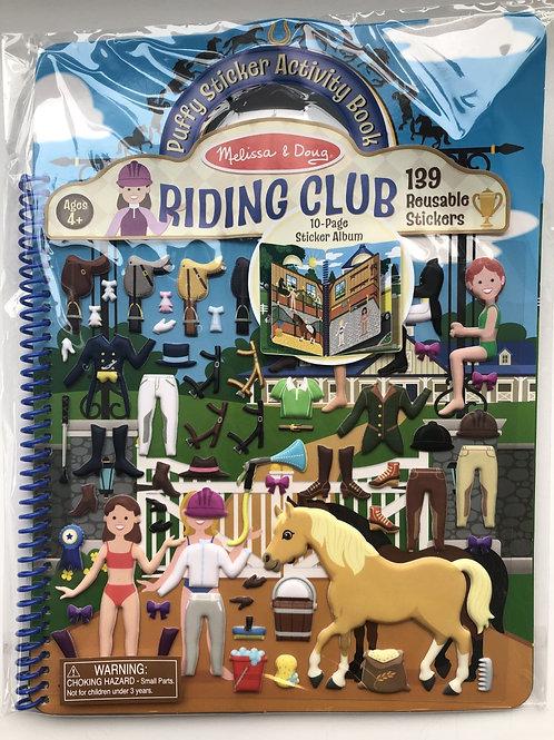Riding Club 10 Page Puffy Sticker Book