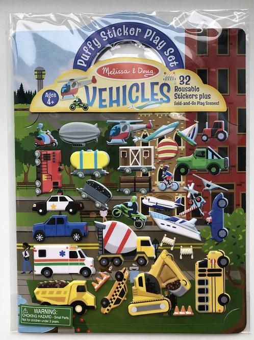 Vehicle Puffy Sticker Play Set