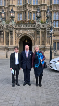 Frankly Speaking Debate Winner with Lord John Cope, Tour at the House of Lords.