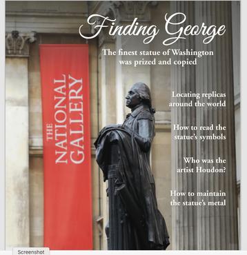 WHP Restoration of George Washington Statue in Trafalgar Square