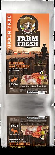 Farm Fresh Chicken and Turkey Active/Puppy