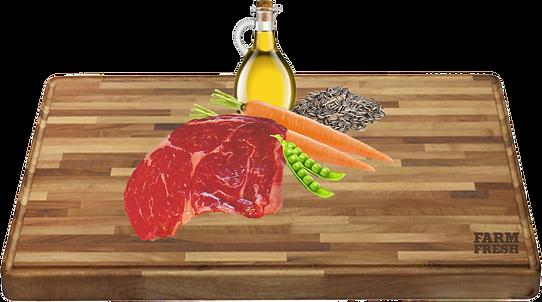 konina a vedlejší produkty z koně, mrkev 5%, hrášek 4%, minerální látky 1%, slunečnicový olej 0,2%