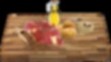Rýže 43%,sušená zvěřina (sob) 17%,sušené brambory 18%, bramborový škrob, sušený losos, drůbeží tuk, sušená vejce, cukrovarské řízky, drůbeží tuk, lněné semínko, pivovarské kvasnice, lecithin, L-karnitin, taurin, chondroitin, glukosamin.