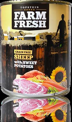 Farm Fresh sheep with sweet potatoes
