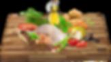 Čerstvé kuře (20%), hrášek, sušené kuřecí maso, sušené sladké brambory, sušené brambory, bramborový škrob, sušené řepné řízky, lignocelulóza, drůbeží tuk, sušené lusky svatojánského chleba, lněné semínko, pivovarské kvasnice, lososový olej, sušená vejce, minerální látky, inulin (zdroj FOS), sušená mrkev, kopřiva, echinacea, sušená rajčata, sušená jablka, sušené mango, sušené švestky, sušený banán, tymián, bazalka, spirulina, brusinky, celer, chondroitin, glukosamin.