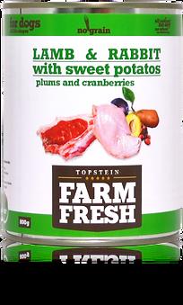 Farm Fresh lamb & rabbit with sweet potato plum