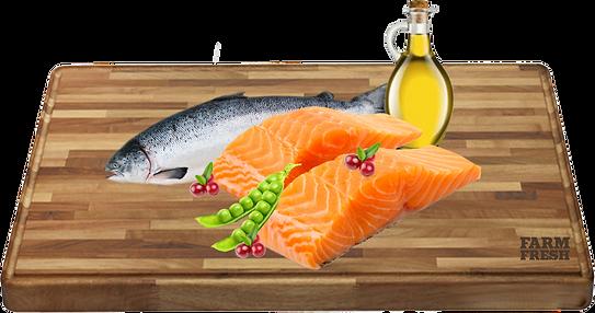 losos a vedlejší produkty z lososa 62%, hrášek 5%, brusinky 3%, minerální látky, oleje a tuky (lososový olej 0,2%)
