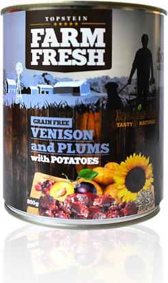 Farm Fresh venison and plums with potatoes