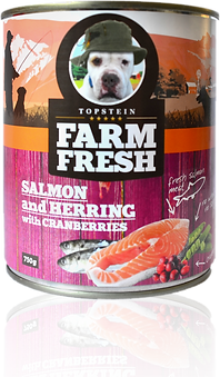 Farm Fresh salmon and herring with cranberries