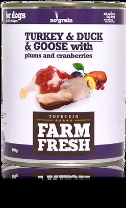 Farm Fresh turkey & duck & goose with plums