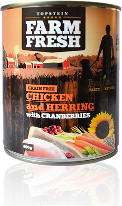 Farm Fresh chicken and herring with cranberries