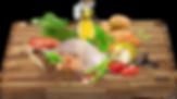 Čerstvé kuřecí maso 20%, sušené drůbeží, hrášek, drůbeží tuk, sušené brambory, bramborový škrob, sušené sladké brambory, lososový olej, sušené lusky svatojánského chleba, lněné semínko, pivovarské kvasnice, sušená vejce, minerály, inulin (zdroj FOS), sušená mrkev, kopřiva, Echinacea, sušená rajčata, sušené jablko, sušené mango, sušené švestky, sušený banán, tymián, bazalka, spirulina, brusinky, celer, glukosamin, chondroitin.