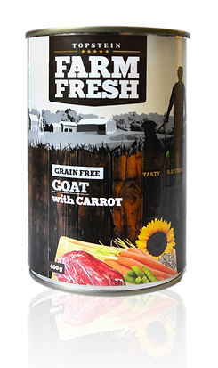 Farm Fresh goat with carrot