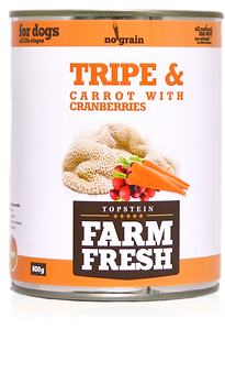 Farm Fresh tripe & carrot with cranberries