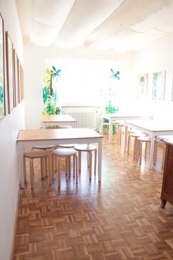 La sala per mangiare e fare giochi di società