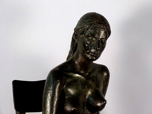 Vintage Bronze Female Nude Sculpture by