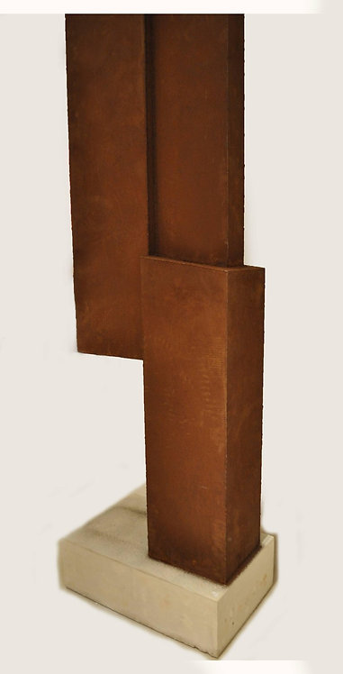 Abstract Core 10 Steel Sculpture by Scott Donadio