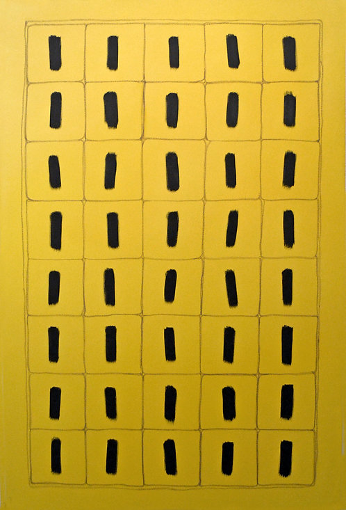 40 Black Elements On Yellow by Tina Bluefield