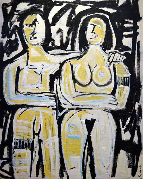 """Newlyweds"" by Kenneth Joaquin (b. 1948)"