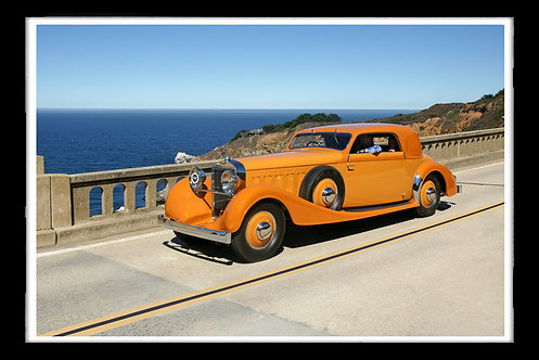 """1933 Orange Hispano Suiza J12 Vanvooren Coupe "" by Gregg Felsen"