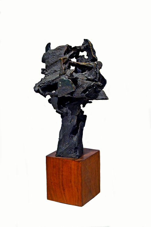 Abstract Brutalist Bronze Sculpture Circa 1960s