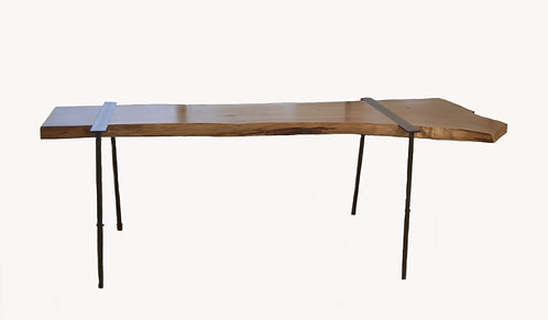Charles Green Live Edge Wood & Steel Console