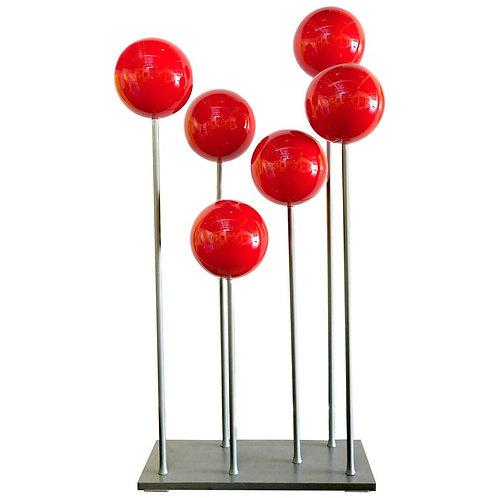 Sculpture RED BALLS OF FIRE by Robert Marion