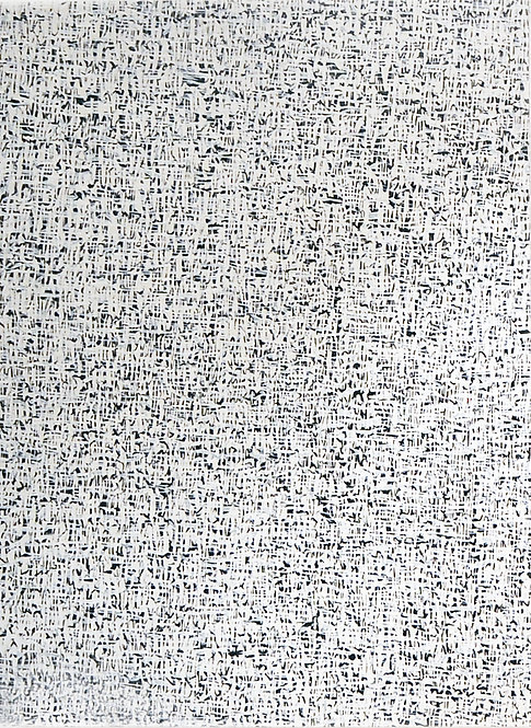 Abstract Black and White Painting by Artist Carla Tak