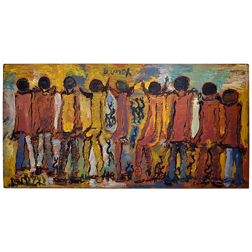 CHAIN GANG by Artist Purvis Young (1942-2010)