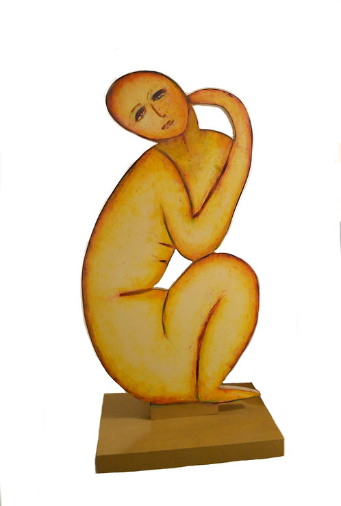 Sculpture Titled SITTING MAN by Paulden Evans