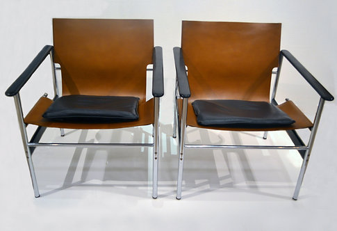Exceptional Charles Pollock Lounge Chairs for Knoll