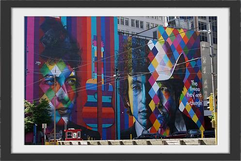 """Bob Dylan Mural Downtown Minneapolis"" by Gregg Felsen"