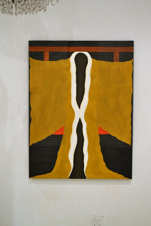 Artist #64, Gold Kimono by Jane Evans