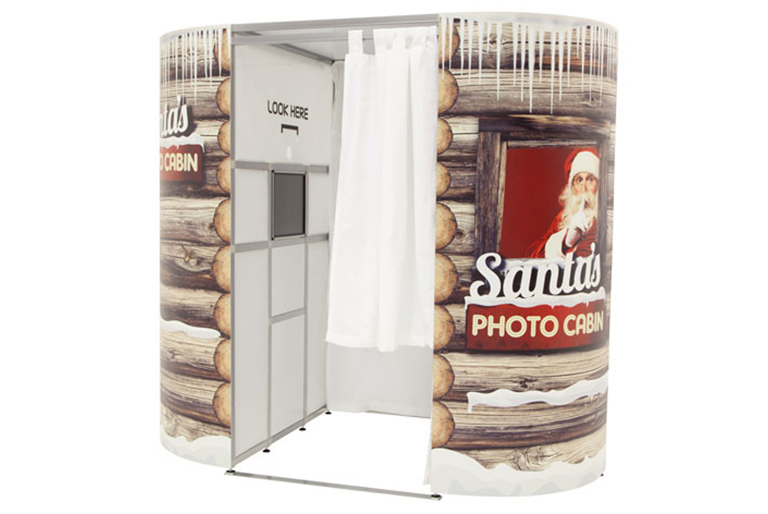 Christmas, Santas cabin photobooths