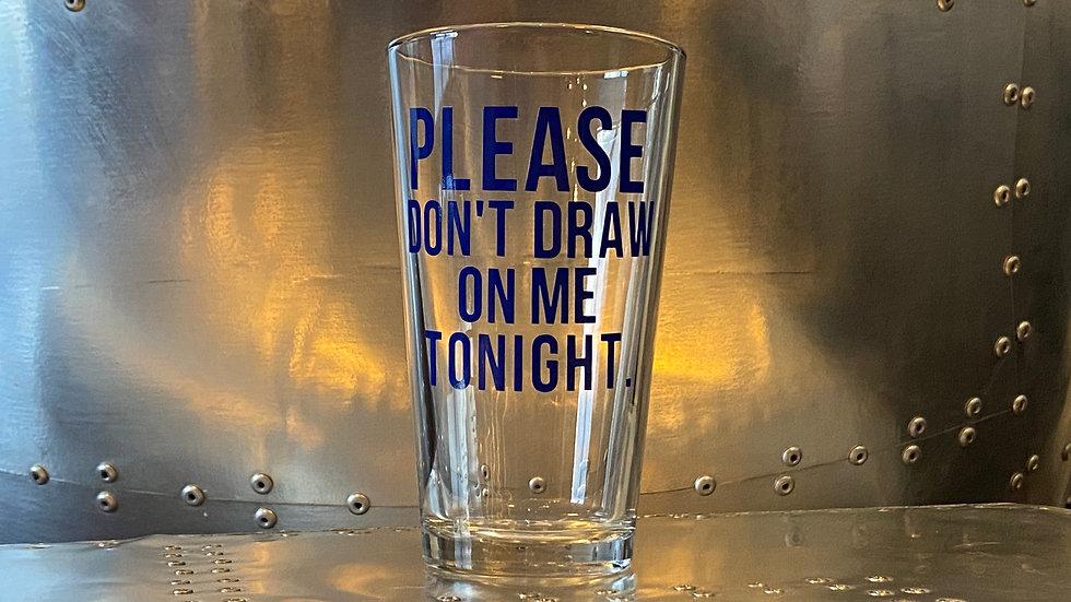 Front Lounger Pint Glass