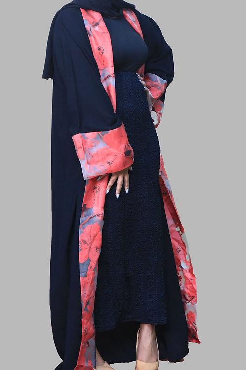 Black open Abaya