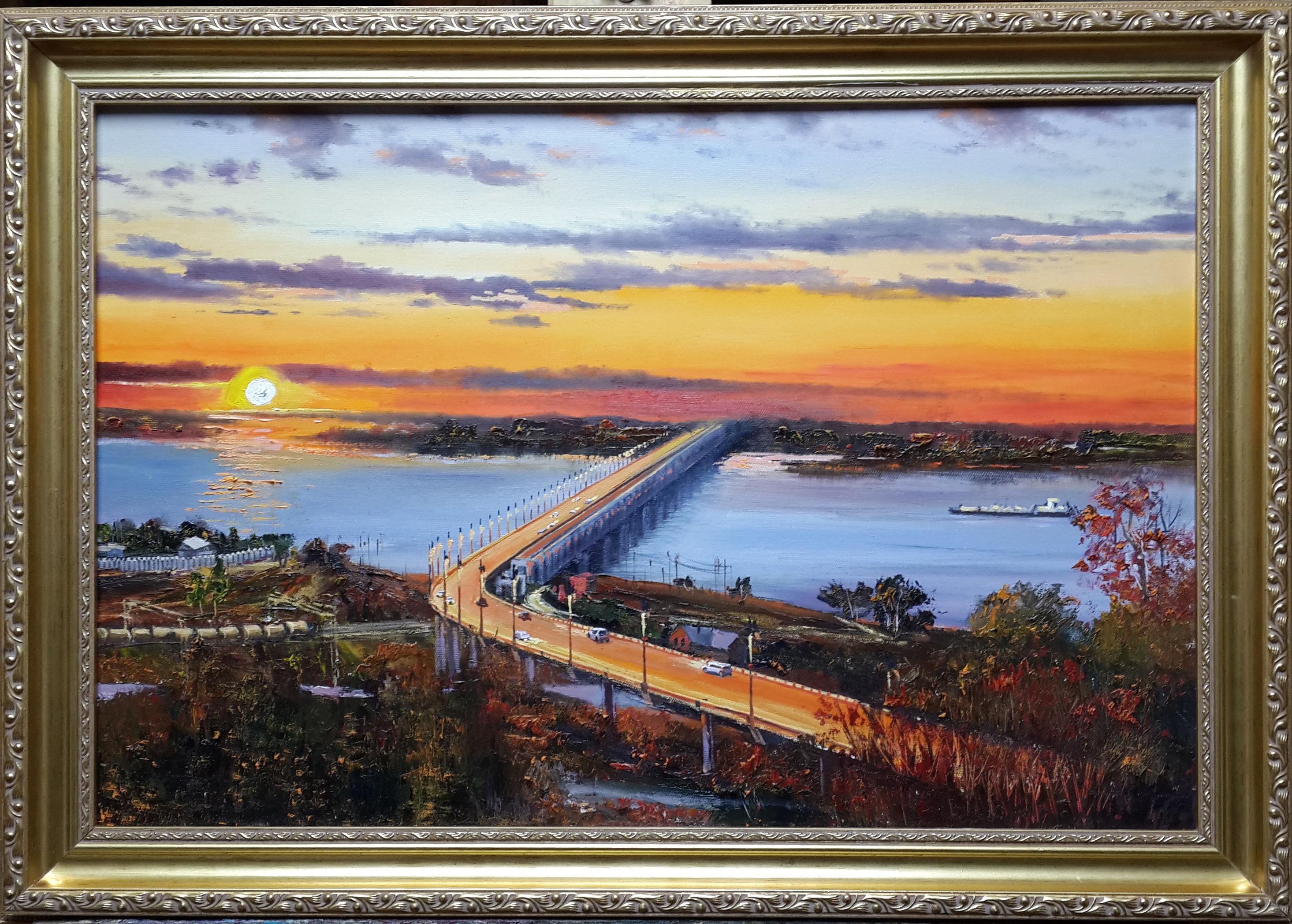 Вечерний мост 40 х 60 -11 500 ₽