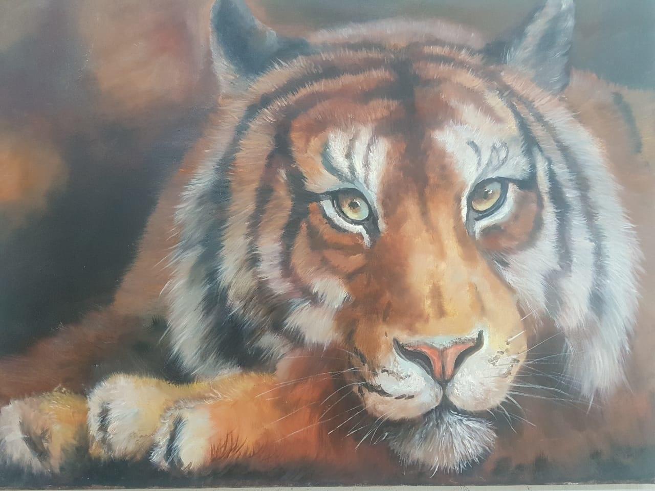 Тигр  х.м  60 х 80   25 000 ₽